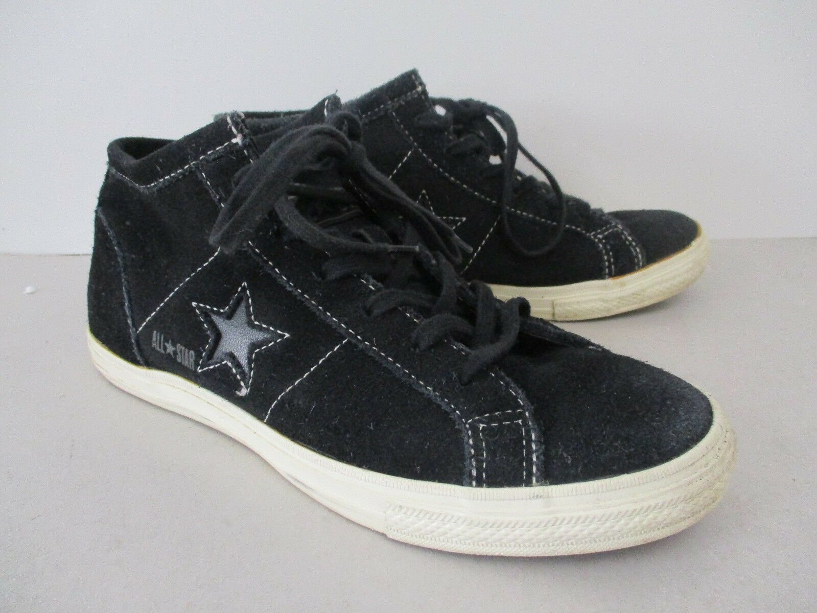 CONVERSE ALL STAR - CHUCKS - HIGH Gr. - SNEAKER; Schwarz, Wild-Leder, Gr. HIGH 38 / UK5 b962b9