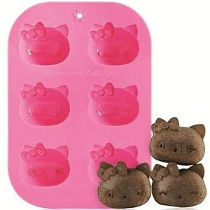 SiliconeZone Hello Kitty Silicone 6 Cup Cupcake / Muffin Mold