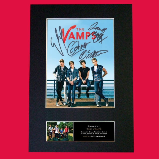 THE VAMPS Signed Autograph Mounted Photo Repro A4 Print 469