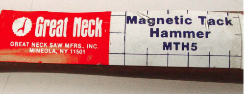 GREAT NECK MTH5 HAMMER MAGNETIC DROP FORGED TACK 5 oz head