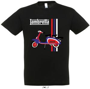 Lambretta-Scooter-Vespa-Motor-Bike-Retro-Mod-Sca-Printed-T-Shirt-3-Colours-New