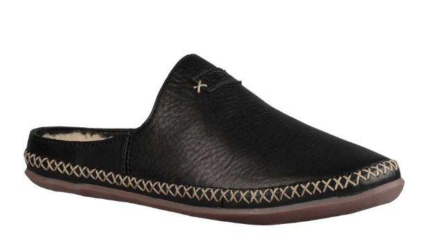 87f9dc08ff19 Women s Shoes UGG Tamara Wool Lined Leather Slip Ons 1014872 Black 6 ...