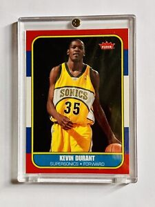 2007-08-KEVIN-DURANT-Fleer-Retro-NM-MT-1986-87-ROOKIE-CARD-PSA-10-86R-143