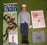 Action Man 40th Boxed Action Sailor Brown Painted Hair Hard Hands ( Gi Joe )