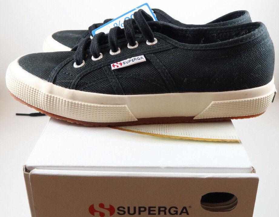 Nuevo Superga 2750 Cotu Clásico Negro (M), Zapatillas De Lona Unisex /2 (M), Negro 7 (F) b809b3