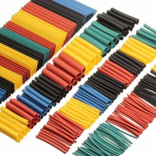 Kabel Wrap Rohr 2:1 Ärmel Draht 1-13mm Hitze 8size Set Schrumpf 260x Elektrisch