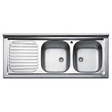 Apell Pisa Lavello Cucina da appoggio con Due Vasche - Inox (PI120LPC)