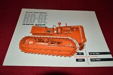 Allis Chalmers HD-6E Crawler Tractor Dealers Brochure YABE11 ver14