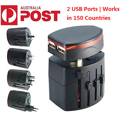 AU/UK/US/EU Universal International/World/Travel Adapter/Converter Plug Power