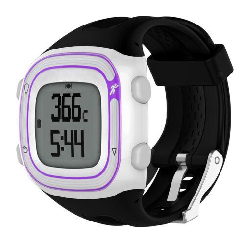 Sport Silikon Armband Uhrenarmband für Garmin Forerunner 10//15 Schwarz