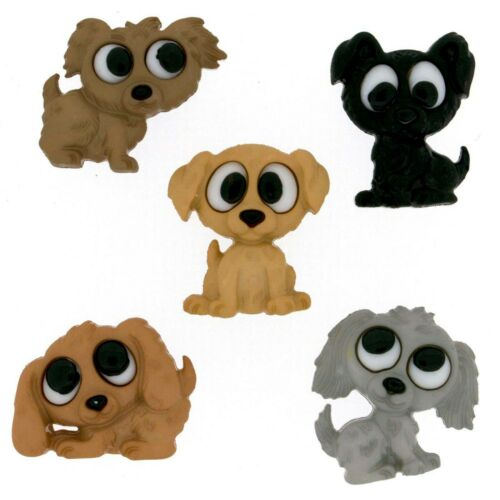 PLAYFUL PUPPIES 7687  ~ CRAFT~ SEWING Jesse James Buttons ~ Dress It Up
