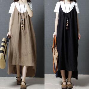 ZANZEA-Women-Plus-Suspender-Shirt-Dress-Strappy-Asymmetrical-Midi-Dress-Sundress