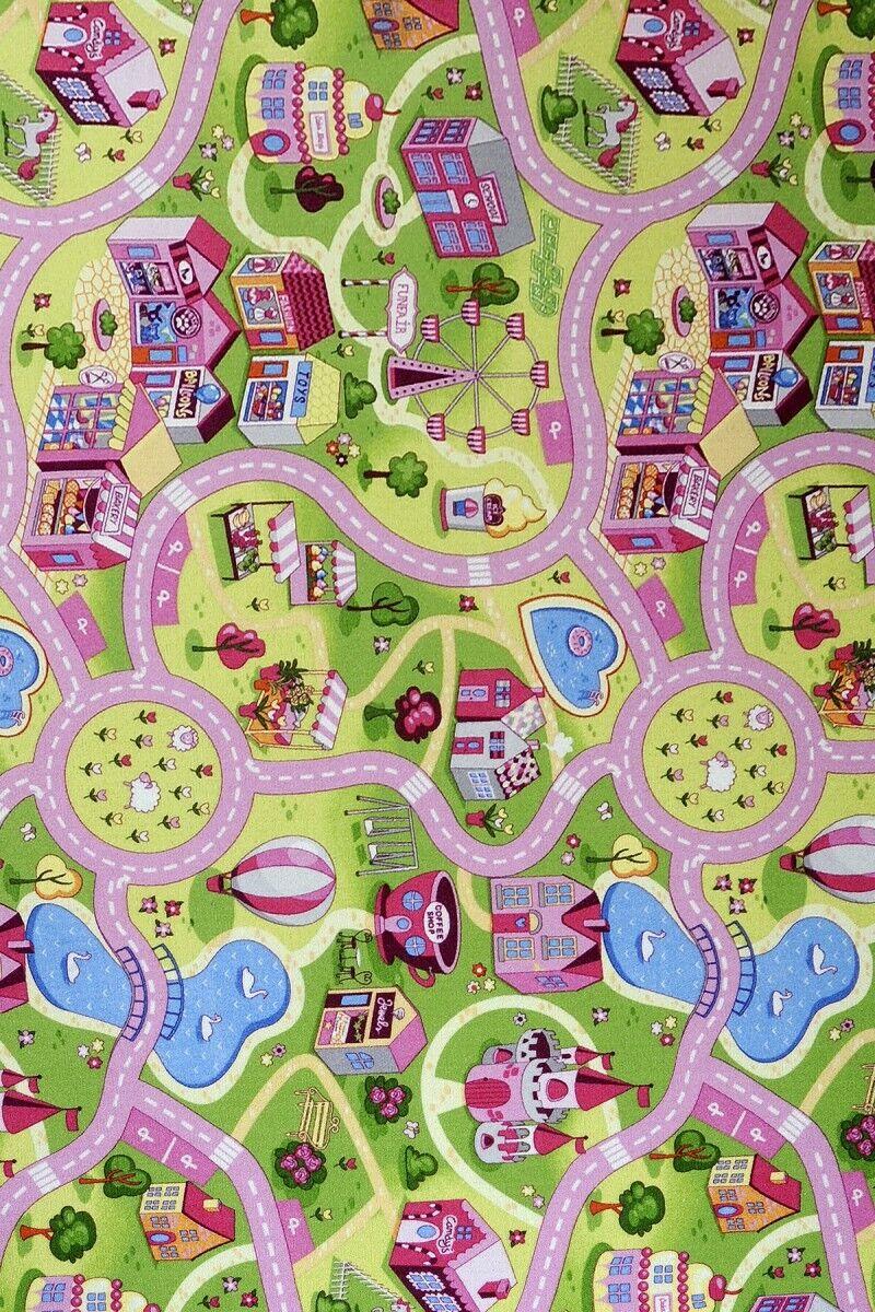 Kinderteppich Candy Town - Farbe  Bunt   Schadstoffgeprüfter Spielteppich