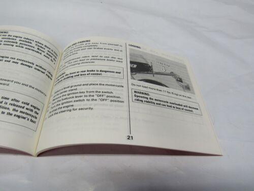 GENUINE Suzuki 1987 FA50 Owners Manual 99011-02228-03A