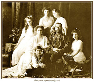 TOO ! ROMANOV NOW AVAILABLE AS CANVAS PRINT THE RUSSIAN IMPERIAL FAMILY PRINT