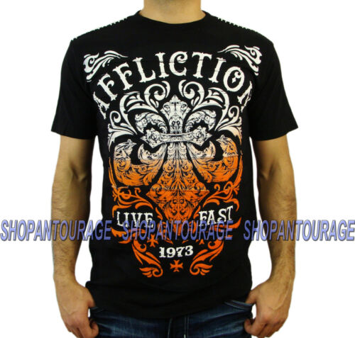 AFFLICTION Truth /& Consequence A12854 Men`s New Black T-shirt