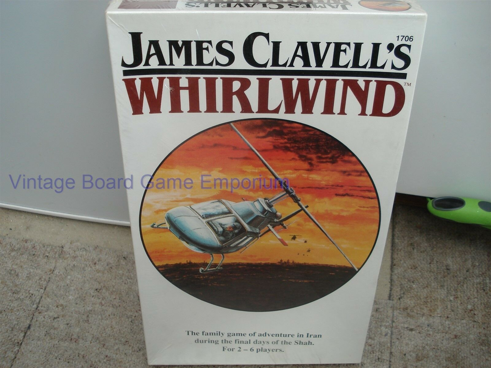 James Clavell's Whirlwind Game-Whirlwind Game-FACTORY SEALED-RARE - 1986