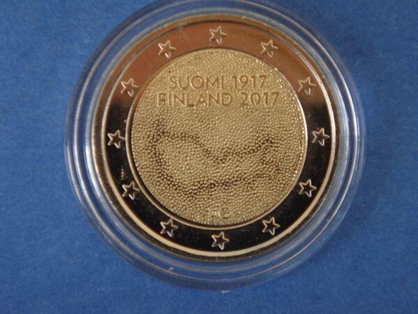 """Consciencieux ♣ Pièce 2 Euros Commémorative Finlande 2017 """" Independance """" Sous Capsule"""