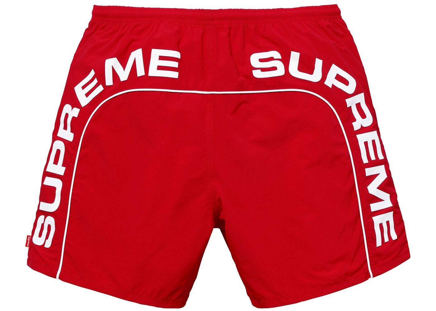 Supreme Arc Logo Water Short - Red  - Sizes Medium & Large -  Brand New