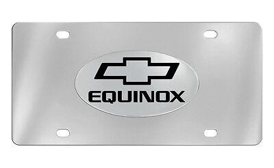 Chevrolet Equinox 2012 logo Chrome Plated Brass Metal License Plate Frame Holder