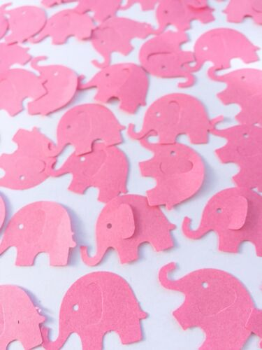 Pink elephant table confetti Baby Shower Christening Birthday Girl card craft