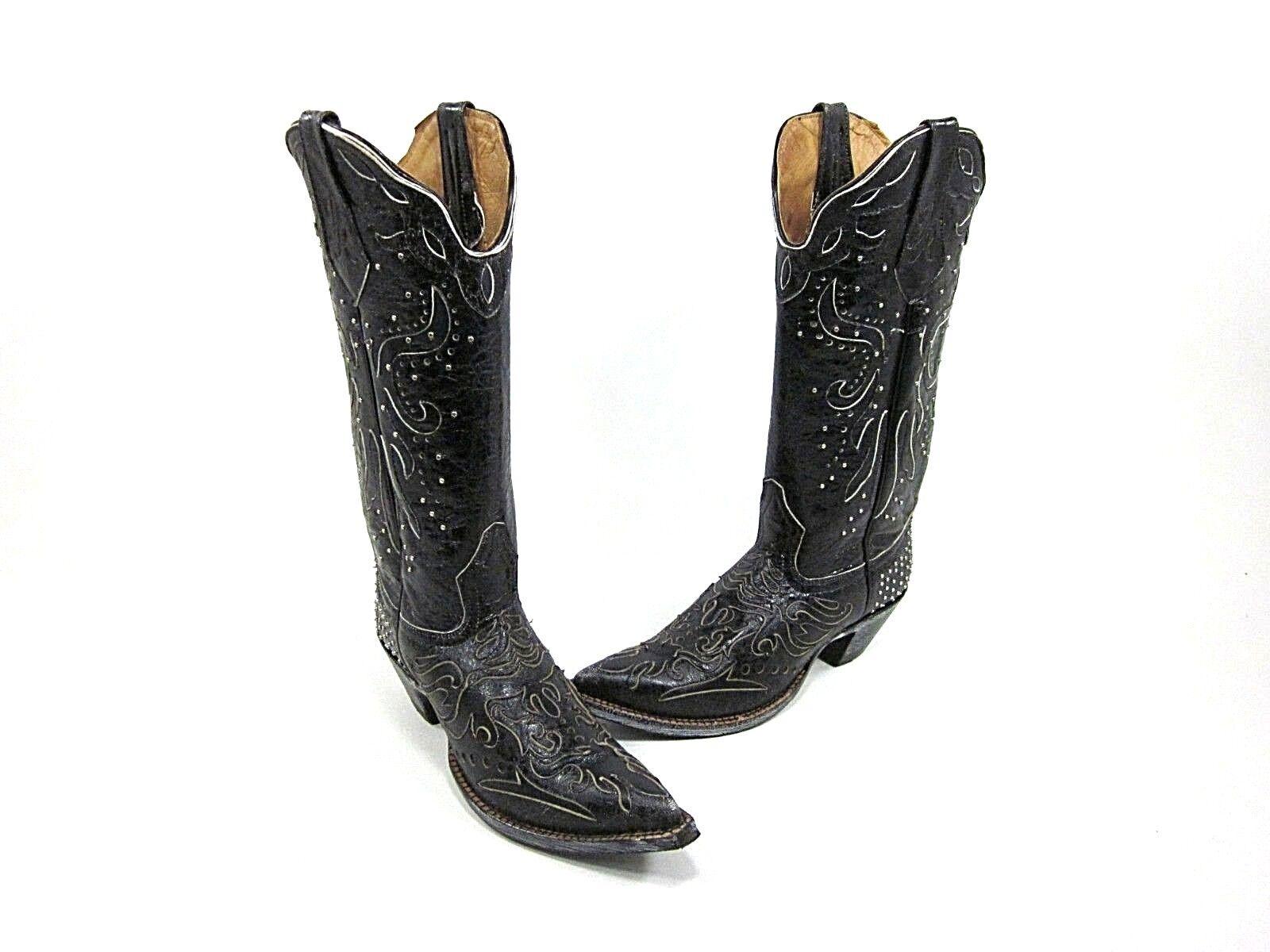 CINCH damen BRITTNEY WESTERN Stiefel, schwarz, US Größe 5, MEDIUM, NEW IN BOX