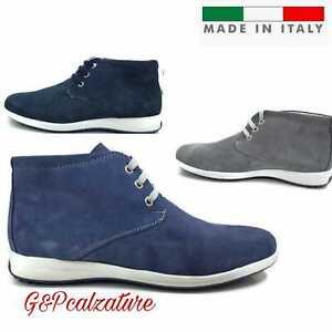 Dettagli su Polacchine estive scarpe uomo MADE IN ITALY 100%pelle scamosciata stivale uomo