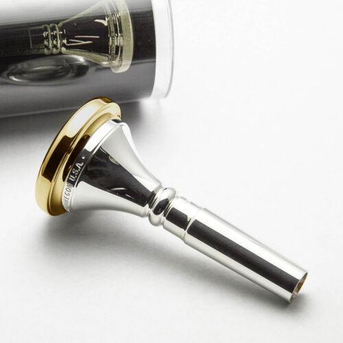 Genuine Marcinkiewicz 7G Small Shank 24K Gold Rim /& Cup Trombone Mouthpiece NEW