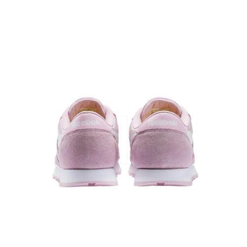 Reebok Classic Leather Nylon Grade School Kids Shoes BS8677 CHARMING PINK