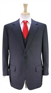 DUNHILL-Custom-Made-for-FRANK-SINATRA-Gray-Pinstripe-3-Pc-Wool-Suit-42R