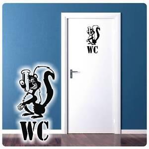Toilette Wc Stinktier Wandtattoo Turaufkleber Badezimmer Bad Lustig