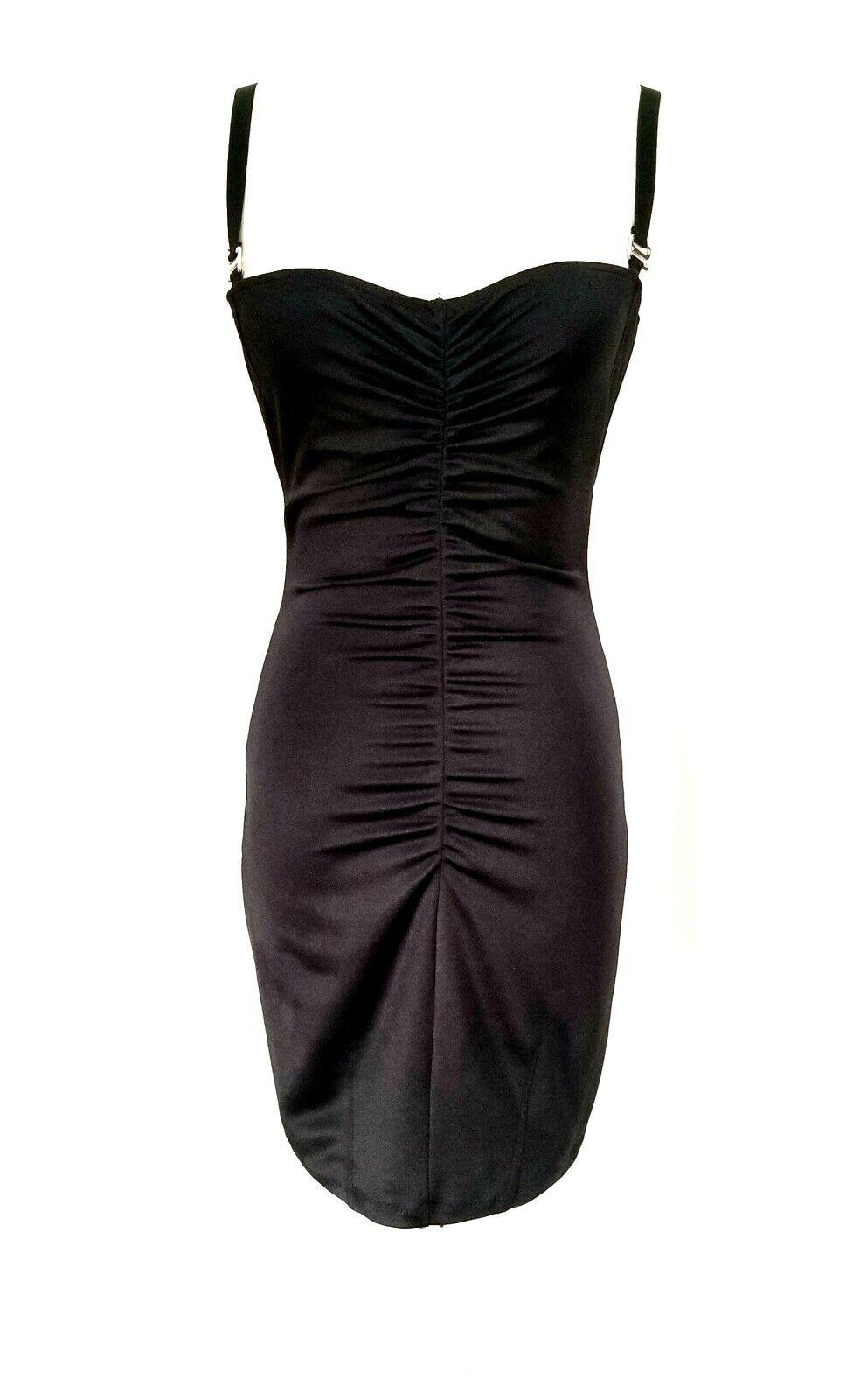 Mark Wong Nark New Rouched schwarz Mini Dress Medium  NWT
