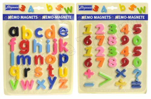 Alphabet Letter Number Fridge Magnets Kids Children Learn Teach Memo Magnetic