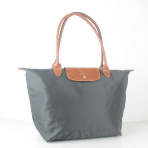 01782e4cb3da Clearance Longchamp Le Pliage Nylon Large Tote Bag Graphite (color ...