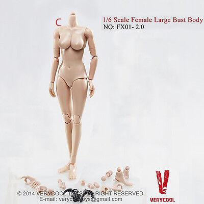 1/6 VERYCOOL FX01-C 2.0 MEDIUM TAN/ASIAN Female Body Upgrade version Large Bust