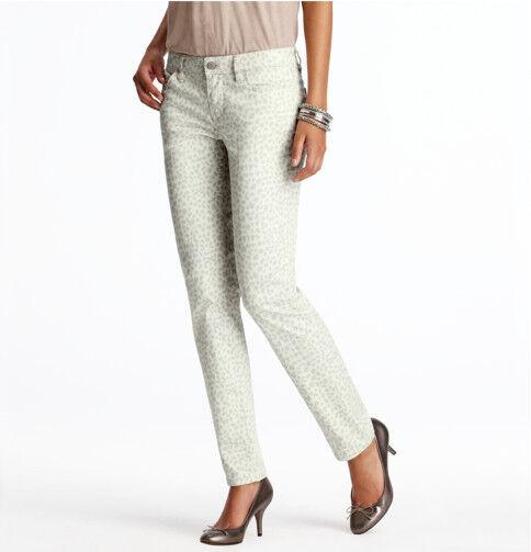 Ann Taylor LOFT Modern Skinny Jeans Pants in Changing Spots Print Size 14 NWT