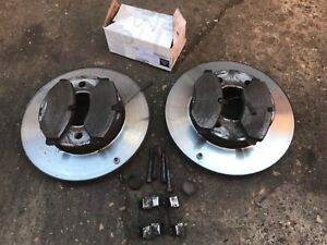 WIRE SENSORS MERCEDES SPRINTER 2006-2011 FRONT /& REAR BRAKE DISCS AND PADS SET
