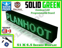Green - 51x6.5 Led Programmable Scrolling Sign - Outdoor (totally Water Proof)