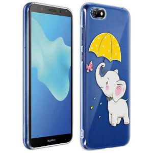 Antigraffio-Cucciolo-di-Elefante-Hard-Case-Custodia-in-silicone-per-Huawei-Y5-2018-Honor-7S