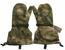 A-TACS FG Military Cold Weather Hunting Skiing Mitten Leather Gloves & Liner M