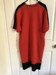 Amazing-Alex-Mazurin-Red-Dress-With-Black-Trim-Sz-44-M-As-New-RRP-675