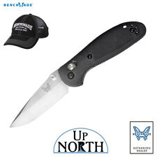 Benchmade 556 Mini Griptilian Knife Black Handle Drop Point Blade FREE HAT