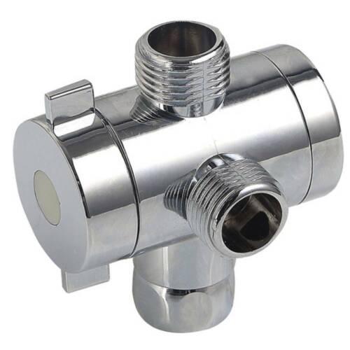 "T-adapter Valve 3-Way Brass For Toilets Bidet Shower Head Diverter 1//2/"" Sockets"
