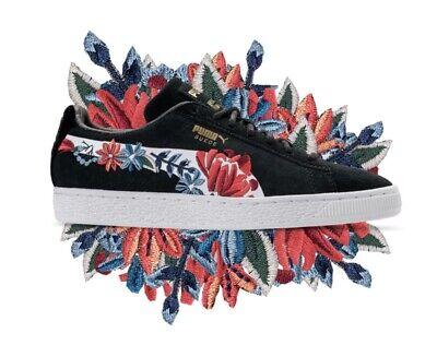 puma suede black floral off 68% - he