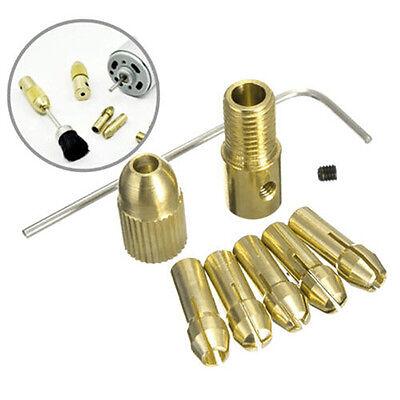 8 Pcs 0.5-3mm Small Electric Drill Bit Collet Mini Twist Drill Tool Chuck Set