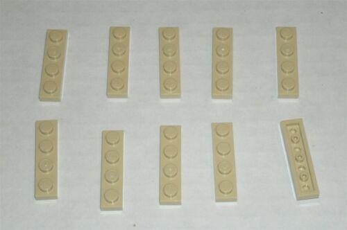 371005 4113233 Brick 3710 10x LEGO NEW 1x4 Tan Plate
