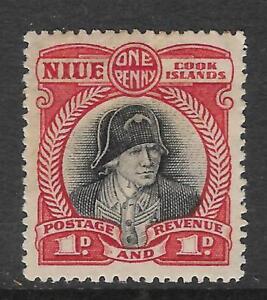 NIUE-Cook-Islands-1d-CAPTAIN-COOK-Mint-Hinged-No-3