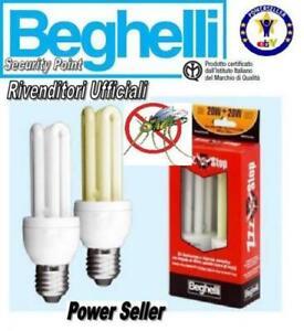 2-LAMPADINE-luce-calda-BEGHELLI-ZZZ-STOP-RISPARMIO-ENERGETICO-20W-20W-2700K