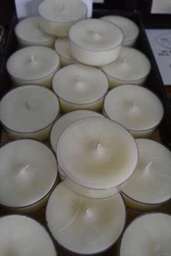 """45HR TOTAL BURN QUALITY SOY TEA LIGHT CANDLES-BOX 3 /""""CLEANSING SAGE/""""by MOONLITE"""