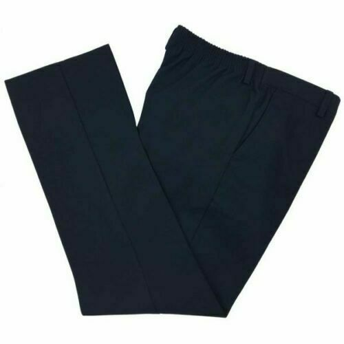 NEW BOYS EX STORE NAVY BLUE ADJUSTABLE WAIST SCHOOL TROUSERS Age 4-9